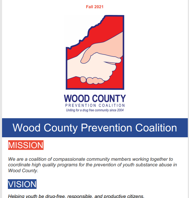 Wood County Prevention Coalition Newsletter Fall 2021